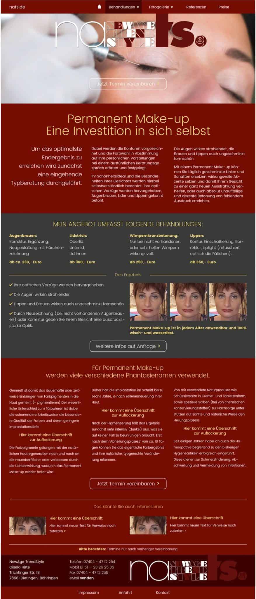 wordpress responsive webdesign kosmetik