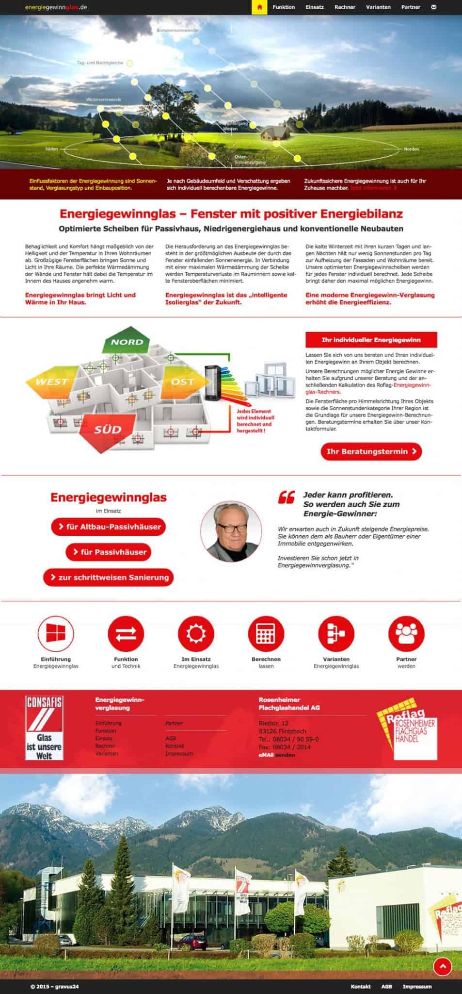 energiegewinnglas Rosenheim komplett