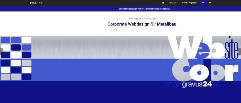Webdesigner Farb-Tipp für Metallbau Unternehmen