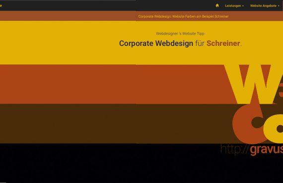 webdesigner farbtipp schreiner
