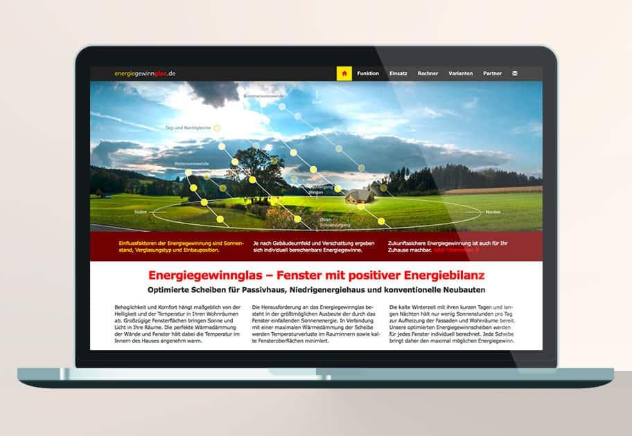 Website Energiegewinnglas