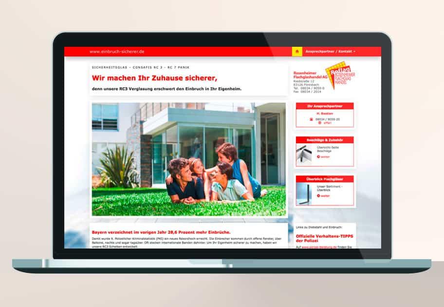 Webdesign Einbruchschutz Website