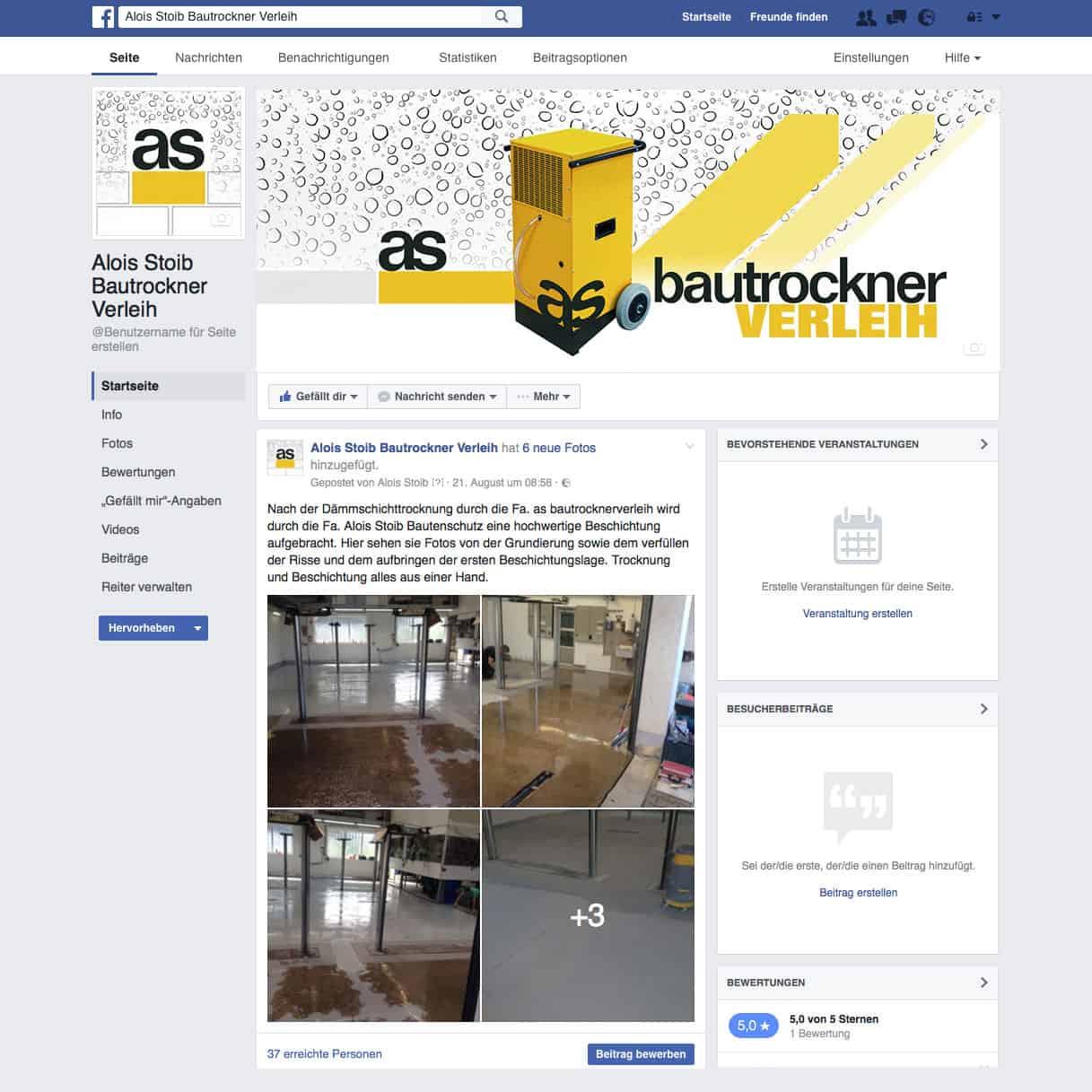 Corporate Webdesign facebook Website
