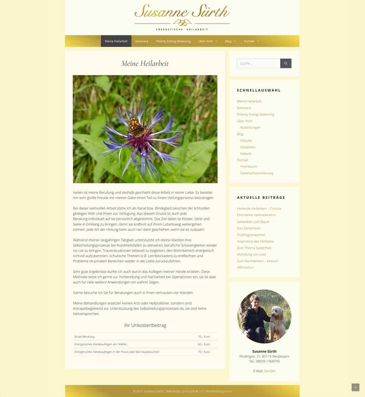 Heilarbeit Sürth WordPress Website Erstellung