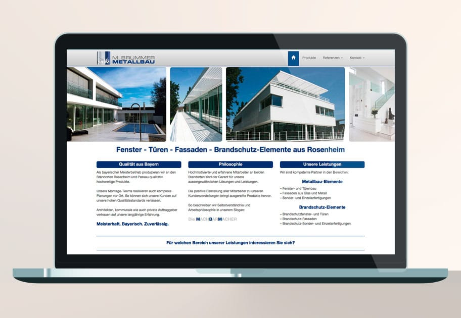 mbm rosenheim website tablet